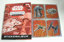 Topps Star Wars factfiles sticker vehículos-album + todos los 84 sticker