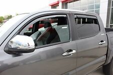 In-Channel Wind Deflectors for a 2016 - 2020 Toyota Tacoma Double Cab