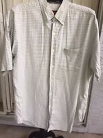 Austin Reed London Shirt Size Xl 100 Linen Blue Striped Short Sleeve Ebay