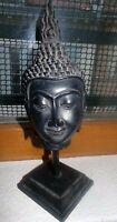 Tête de bouddha sur pied - 26 cm