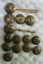14 GOLD tone Metal 2 size 4 Picture Fashion Buttons Blazers Sport Coats Jackets