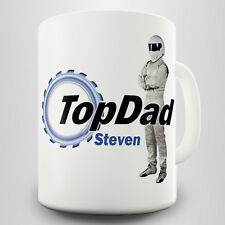 TopDad Personalised Gift Mug - A parody of the iconic motoring show logo