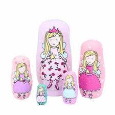 5Layers Princess Russian Nesting Dolls Wooden Matryoshka Doll Girls Toy Kid Gift