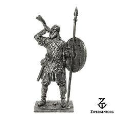"Tin Toy SOLDIER 54mm VIKING Warrior & NORSE Horn RAIDER 1/32"" Metal Tin Figure"