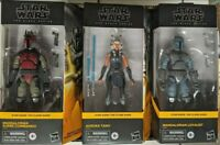 Star Wars Black Series Mandalorian Super Commando Loyalist Ahsoka Clone Set of 3