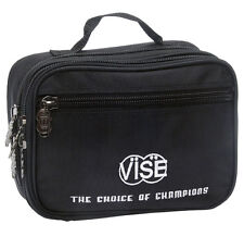 "Vise Bowling Large (8"" x 10"") 3 Pocket Black Accessory Bag - New-Free Shipping!!"
