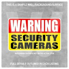 Vinyl Sticker Decal - Security Camera WARNING (x2) 5x3 - Warning Caution CCTV