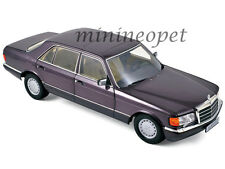 NOREV 183544 1991 MERCEDES BENZ 560 SEL 1/18 DIECAST BORNIT METALLIC PURPLE