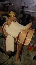 16'' western saddle barell racing