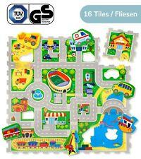 Hakuna Matte® City Puzzlematte für Kinder 1,2x1,2m, 16 Platten und 11 Fahrzeugen