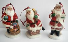 "RAZ 3510185 Santa 4"" Christmas Holiday Ornament Set of 3"