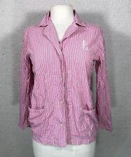 Ralph Lauren Women's Pajama Top sz Small Pink & White Striped PJ's