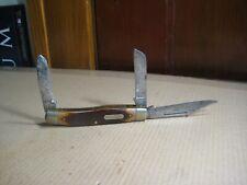 """Vintage Schrade N.Y. USA 80T 3 Blade """"Old Timer"""" Pocket Knife"""