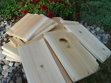 Screech Owl / Kestrel Nest Box Kits, White Cedar (3 pack)