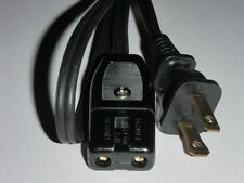 "Power Cord for Sears Waffle Bake Iron Models 632 64810 (2pin)(36"") 64650"