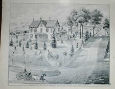 Antique 1875 Print Orange County NY George Gouge Campbell Hall Hamptonburg