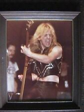JUDAS PRIEST K.K. DOWNING COLOR PHOTO OHIO UNIVERSITY 9/19/79 AUTOGRAPHED