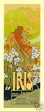 Repro Vintage Art Nouveau Style Advertising Print 'Iris'