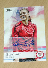 2012 Topps Olympics autograph Hope Solo Soccer