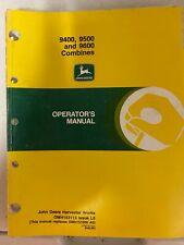 New Listingjohn Deere 940095009600 Combines Operators Manual Omh153113