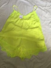 Next Neon Yellow Camisole Top Shorts Set Size 10 BNWT