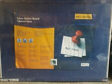 NOBO Professional Aluminium Felt Notice Board Blue - 900 x 1200 mm