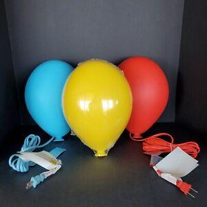 Set of 3 IKEA Dromminge Balloon Light Wall Lamps Childrens Room -Red BlueYellow