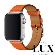 New Apple Watch Series 6 Hermes 44mm Feu Single Tour RARE New in box Orange Band