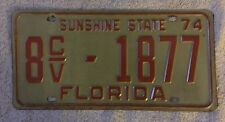 Good solid 1974 Florida  License Plate  Free Shipping See My Store