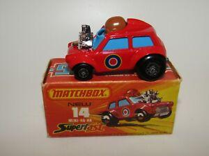 """Matchbox Superfast No 14 Mini Ha-Ha """"Flesh Coloured Driver"""" VNMIB"""
