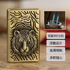 Tiger Cigar Butane Gas Refillable Double Jet Flame Cigarette Lighter