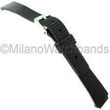 10mm Speidel Express Black Rubber Ladies Replacement Watch Band 861