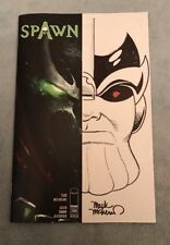 SPAWN #285 PARTIAL BLANK VARIANT REMARKED ORIGINAL THANOS SKETCH MARK MCKENNA!!
