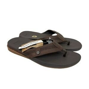 Reef Cushion Bounce Lux Brown Flip Flop Thong Sandals Mens size 8 NEW