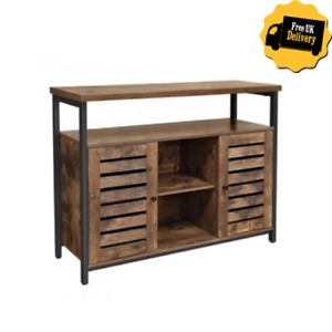 Large Wooden Sideboard Cabinet Industrial Cupboard Buffet Slim Narrow Storage