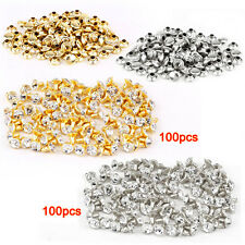 100pcs silver + 100 pcs golden Rivet with rhinestone diamond 7mm LW