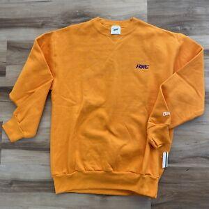 Vintage BIKE Athletic Crewneck Sweatshirt Orange Embroidered Mens Large USA
