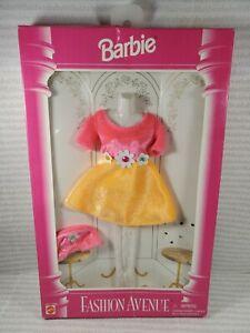 N495~ NRFB FASHION AVENUE ~ BARBIE DOLL PINK ORANGE FLOWER DRESS OUTFIT #14980