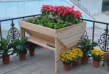 Raised / elevated Timber Garden Bed with shelves . Grow herbs and vegetables.