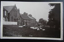 HUTTON RUDBY - Vintage 1923 photo postcard - village view, buildings and birds