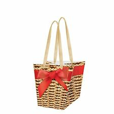 """BASKETWORK"" - Paper Gift Present Bag - Flowerpot Design by Paw"