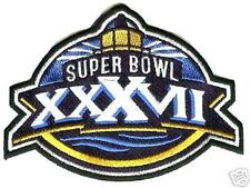 NFL-AFL CHAMPIONSHIP GAME SUPER BOWL XXXVII 37 BUCCANEERS RAIDERS JERSEY PATCH