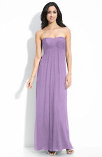 NWOT  Amsale Strapless Silk Crinkle Chiffon Gown Orchid  $310 Size 8