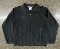 Women's Columbia Fleece Zip Up Collared Jacket Black Sz Medium Outdoors