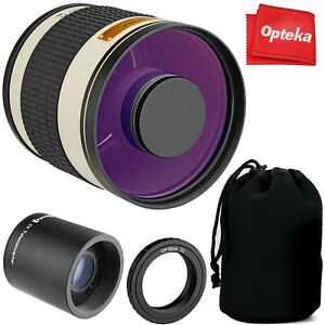 Opteka 500mm/1000mm f6.3 Telephoto Mirror Lens for Canon EF EOS DSLR Cameras