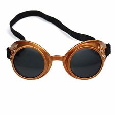 Steampunk cybergoth vintage rave cyber goth goggle lunettes-bronze/noir