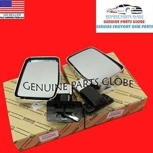GENUINE OEM TOYOTA LAND CRUISER 70 RIGHT & LEFT OUTER REAR VIEW MIRROR SET