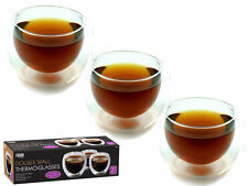 Fineway@ Fusion Set of 3 Double Wall Thermo Glass Espresso Tea Coffee Drink Cup