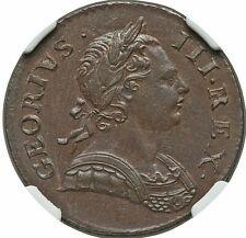 1772 GREAT BRITAIN GEORGE III 'GEORIVS' COPPER 1/2 PENNY NGC MS-64 BROWN