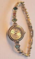 Vintage Vivani Ladies Quartz Watch Colorful RHINESTONES New Battery Bracelet